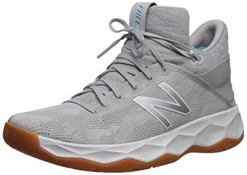 New Balance Men's Freeze V2 Agility Lacrosse Shoe, Grey/White/Grey, 7.5 D US