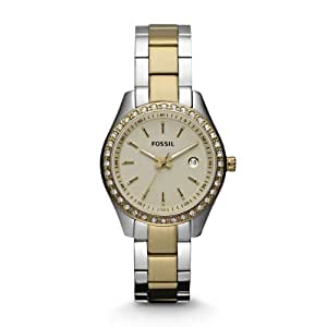 Fossil Women's ES3106 Stainless Steel Analog Gold Dial Watch
