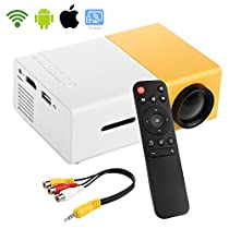 PowerLead PDK007 Home Entertainment Projector Mini Projector Portable LED Projector Home Cinema Theater with Laptop PC Support USB/SD/AV/HDMI Input Pocket Projector for Video MovieGame