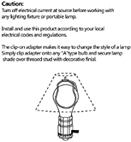 Brass Fanrel Clip on Lamp Shade Light Bulb Clip Adapter with Shade Attaching Finial for Round Light Bulbs 6 Packs