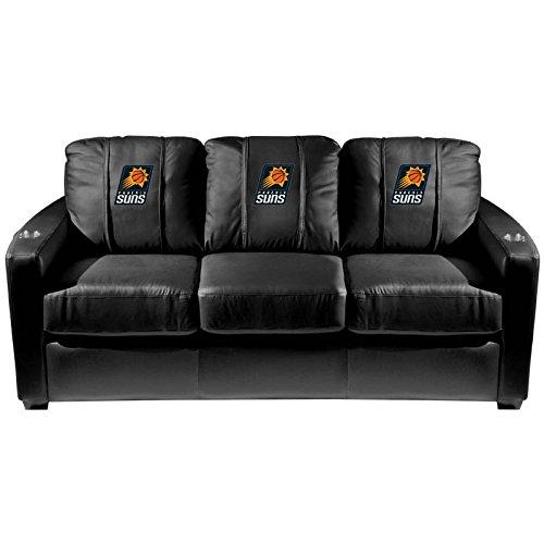 XZipit NBA Silver Sofa with Phoenix Suns Logo Panel, Black