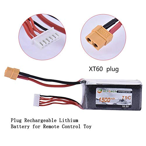 suitus 18.5V 75C 5S XT60 Plug Rechargeable Lithium Battery for Remote Control Toy for Long Flight