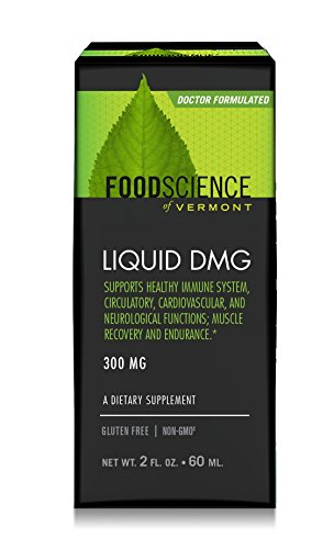 FoodScience of Vermont Liquid DMG, Daily Dietary Supplement to Support Endurance and Immune System Function, 300 mg Aangamik DMG, 2 Fl. Ounces