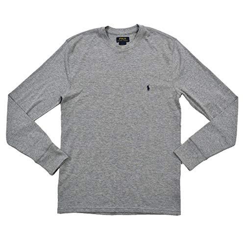 Polo Ralph Lauren Mens Thermal Long Sleeve Sleep Shirt (XL, Gray) ()
