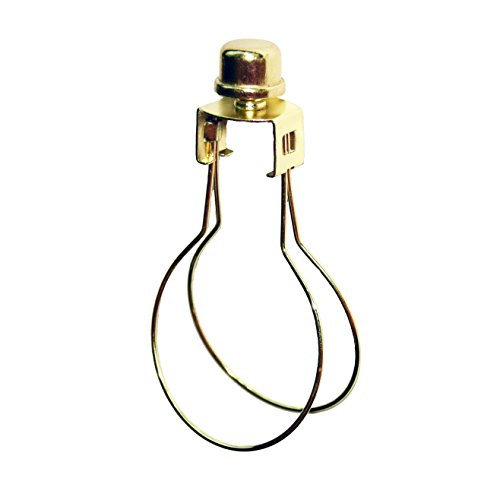 Milton Douglas Lamp Co. Clip-On Light Bulb Lamp Shade Adapter with Shade Attaching Finial Brass