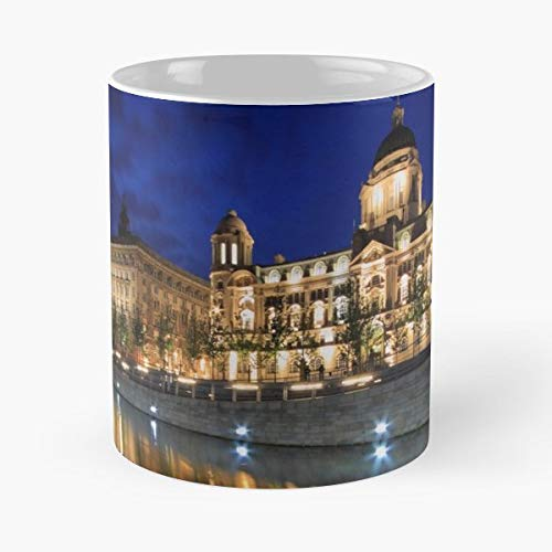 - Liverpool Graces Royal Liver Building Cunard - White -coffee Mug- Unique Birthday Gift-the Best Gift For Holidays- 11 Oz.