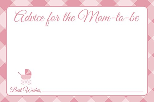 Jot & Mark Baby Shower Advice Cards for New Moms 25 Cards per Pack, Pink ()