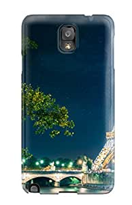 Cindy Yolanda's Shop 5359566K19662866 Paris Eiffel Tower Durable Galaxy Note 3 Tpu Flexible Soft Case