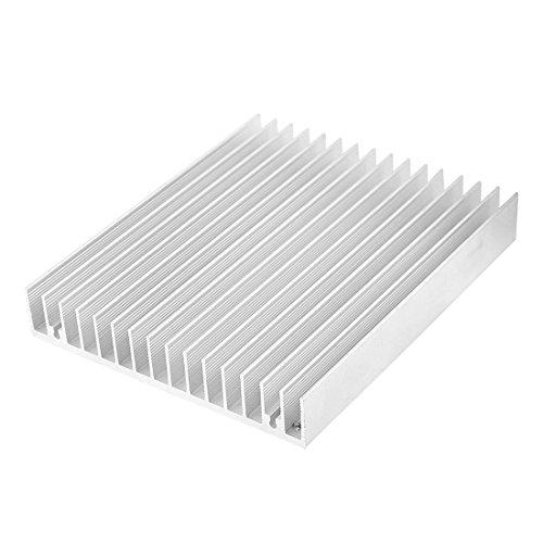 TOOGOO (R) Silber Ton Aluminium Waerme Diffuse Kuehlkoerper Kuehl Fin 120 x 100 x 18 mm