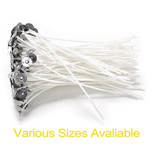 100PCS 14cm Candle Wicks Cotton Core Waxed With Sustainers - 1
