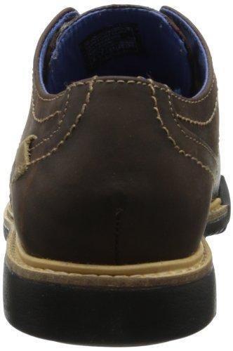 Skechers Malling, Scarpe Stringate Uomo Dark Brown