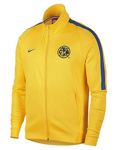 (Nike Mens Club America Franchise Soccer Jacket 868910-719_L - Tour Yellow/Varsity Royal/Varsity)