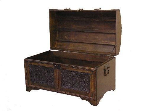 Nostalgic Medium Wood Storage Trunk Wooden Treasure Chest by Styled Shopping (Image #3)