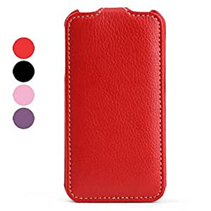 Luxurious Hand-made Leather Case for iPhone 4 --- COLOR:Black