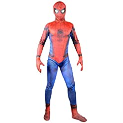 - 414zXrgy GL - 2017 New Justice Spider Man Suit Boys Cosplay Halloween Costume Kids