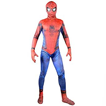 2017 New Justice Spider Man Suit Boys Cosplay Halloween Costume Kids 2X-L