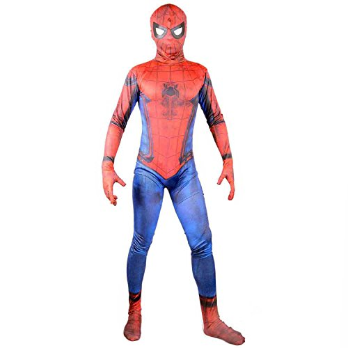 Spider Man New Suit (2017 New Justice Spider Man Suit Boys Cosplay Halloween Costume Kids X-L)