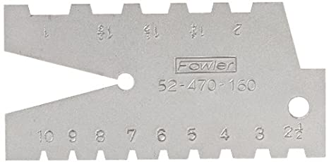 1-10 Range of pitch Fred V Fowler 52-470-160 29 Degree Pitch Acme Standard Gage 52-470-160-0 Fowler Company Inc