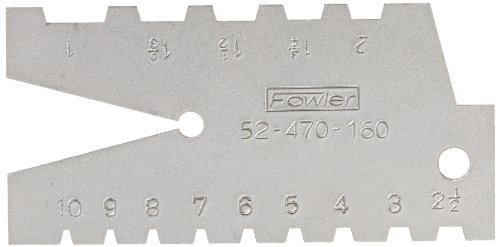 - Fowler 52-470-160 29 Degree Pitch Acme Standard Gage, 1-10 Range of pitch