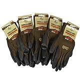 Grease Monkey Gorilla Grip Garden Gloves & Work Gloves (5 Pack), Large