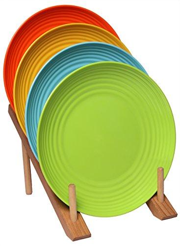 Melange 6-Piece  Melamine Dinner Plate Set (Solids Collection )   Shatter-Proof and Chip-Resistant Melamine Dinner Plates   Color: Multicolor by Melange (Image #1)