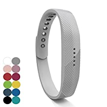 Feskio Fitbit Flex 2 Accessory Replacement Wristband,Classic Soft Silicone with Metal Clasp Buckle Wrist Strap Watch Band Holder Case Pouch for Fitbit Flex 2 Fitness Activity Tracker(Small/Large Size)