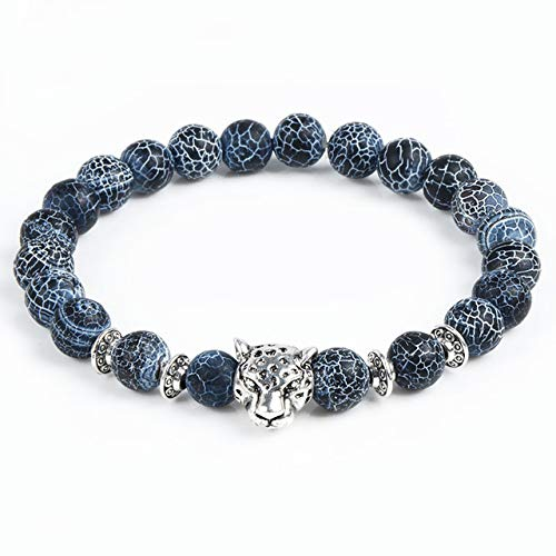 Amazon.com: Leopard Tiger Eye Lion Head Bracelet Owl Buddha ...