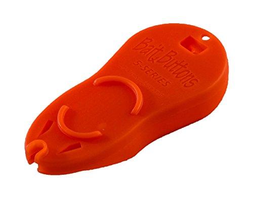 BAIT BUTTONS Big Game Bait Button Dispenser, Marine Orange (Best Bait For Sturgeon Fishing)