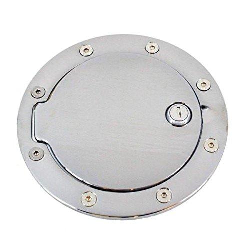 6096CL Chrome Billet Aluminum Locking Fuel Door
