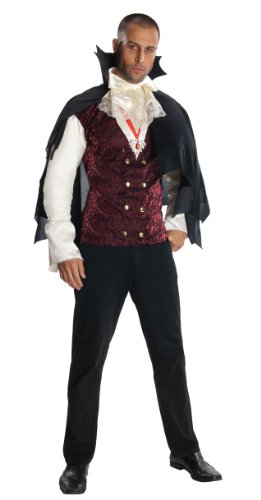 [Rubie's Costume Heroes And Hombres Adult Vampire Shirt And Cape, Black, X-Large Costume] (Adult Vampire Halloween Costumes)