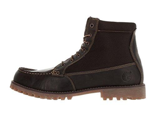 Para hombre Timberland Oakwell 8-Eye Moc Toe botas de piel y tela Marrón/marrón