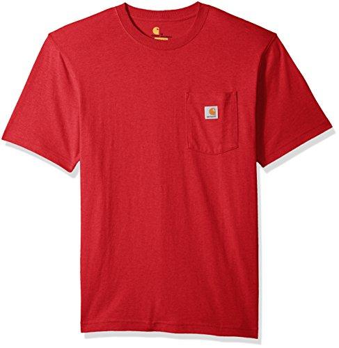 Carhartt Men's Workwear Short Sleeve T-Shirt in Original Fit K87, red Heather, Medium -
