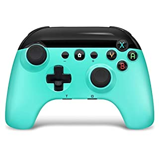 Wireless Pro Game Controller for Switch/PC , BestOff Pro Gamepad Dual Motor Dual Vibration Shock Joystick Wireless-Green