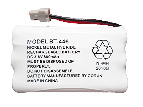 (BT446 BT-446 BBTY0503001 BT-1004 BT-1005 GE-TL26402 BT-504 CPH-488B Rechargeable Cordless Telephone Battery DC 3.6V 800mAh Manufactured by Corun for)