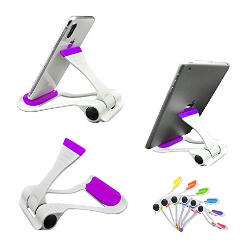 Labilus Two Models Multi-Angle Adjustable Universal Portable & Foldable Cellphone Tablet Stand Holder Mount for iPhone ipad Galaxy Kindle Switch - Purple