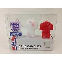 England International Soccer Team Shaped Cake Celebration Candles
