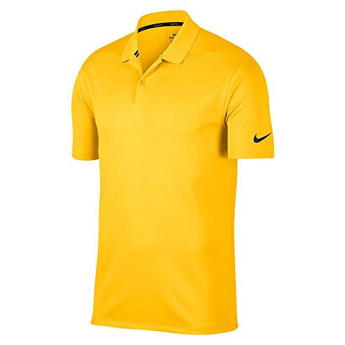 af825c3d Nike New DRI FIT Victory Solid Golf Polo Amarillo/Black Large