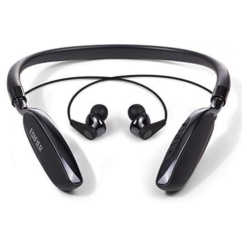 chollos oferta descuentos barato Edifier Auriculares inalámbricos W360BT con Estribo de sujeción para la Nuca Bluetooth Controles de Reproducción y Volumen Negro