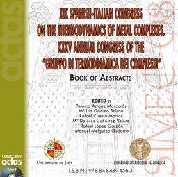 Descargar Libro Xix Spanish-italian Congress On The Thermodynamics Of Metal Complexes. Xxxv Annual Congress Of The