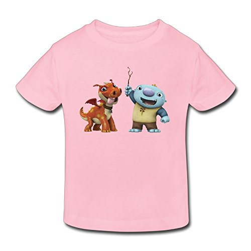 KNOT Slim Fit Wallykazam2 Kids Toddler T-Shirts Pink US Size 5-6 - Roanoke Kids