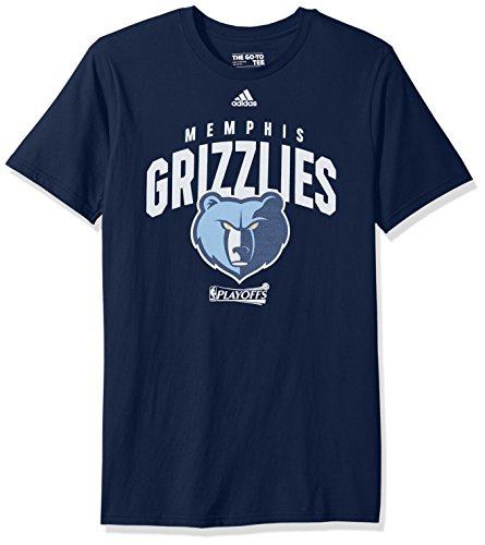 (NBA Memphis Grizzlies Adult Men NBA Playoff Arch S/Go-To Tee, Medium, Collegiate Navy)