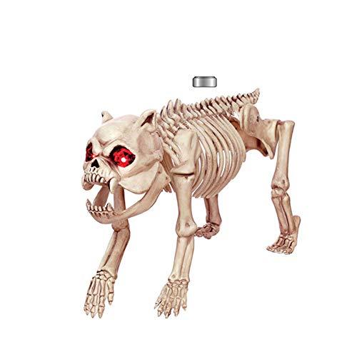 StarALL Halloween Skeleton Model Skull Dog Animal Skeleton Prop for Party Decoration KTV Cosplay