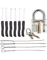 Loboo Idea Transparante praktijk hangslot en gebroken sleutel Extractor Set voor Lockpicking, Beginner en Pro Slotenmakers