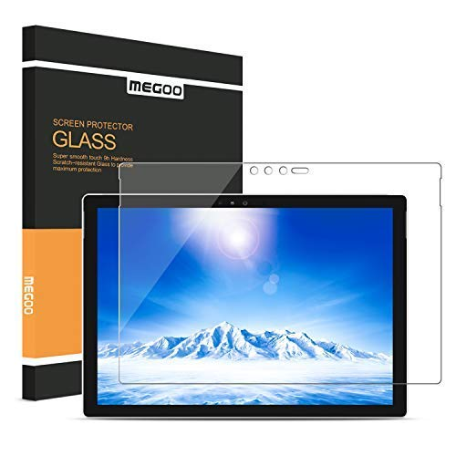 MEGOO Screen Protector for Surface Pro 6 12.3 Inch, [Tempered Glass] [Bubble Free Installation] [Anti-Scratch], Compatible for Microsoft Surface Pro 6/ Surface Pro 5/ Surface Pro 4