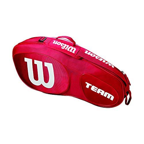 Wilson Team III 3 Pack Tennis Bag, Red/White