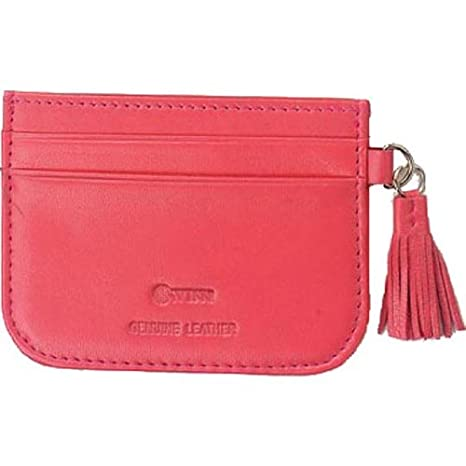 78e172468e90 Amazon.com: Slim Leather Card Case with Decorative Leather Tassel ...