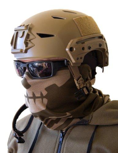 [Milspec Monkey MSM SKULL FACE Mask Multi Wrap Head Gear - DUSTY BROWN] (Costumes By Dusty)