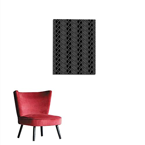 longbuyer Wall Paper Seamless Black and White Pattern from Rectangle Intersections Mural 20