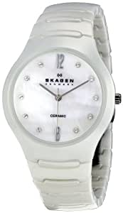 Skagen Women's 817SSXCMP White Mother-Of-Pearl Watch