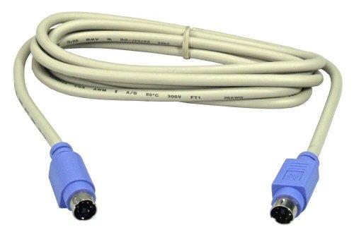 QVS CC389-06S 6 ft. Mini6 Male to Male PS-2 Keyboard & Mouse - Kvm Cables Qvs